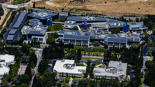 La sede di Google a Mountain View, in California, nel 2016